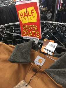 50% Off all winter clothes